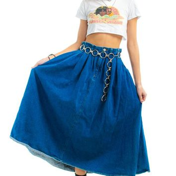 Vintage 90's Lilith Denim Maxi Skirt - S