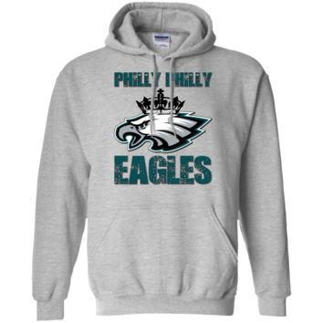 Philadelphia Eagles : Philly Philly : Superbowl Champions : G185 Gildan Pullover Hoodie 8 oz.