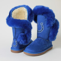 "Indianapolis Colts Women's Cuce Official NFL ""Champions"" Boots"