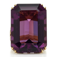 18K Gold, Amethyst And Diamond Ring | Moda Operandi