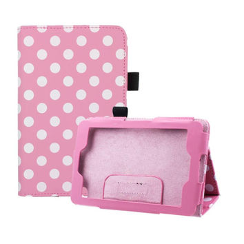Del Polka Dot Flip Leather Cover Case For Amazon Kindle Fire HD 6 Tablet Mar04
