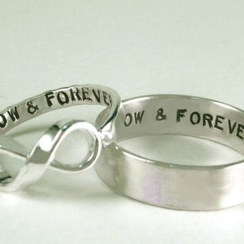 Sale *His Posey Her Infinity Custom Message Rings *Sale