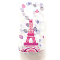 LG G4 Case Cover Paris Eiffel Tower Soft Plastic LG Back Cover France Case G4 Black Snap On Case Slim French Modern Pastel G4 Confetti 1217