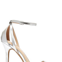 Glam Squad Silver Ankle Strap Heels