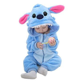 Spring Autumn Baby Clothes Flannel Baby Boys Clothes Cartoon Animal Hooded Jumpsuits Infant Girls Rompers Baby Clothing Bebe