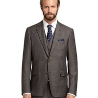 Regent Fit Tic Three-Piece 1818 Suit - Brooks Brothers