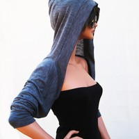 Grey Hooded Shrug/shrugs boleros/yoga boleros/day