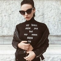 Fashion female sexy long sleeve shirt Monogrammed turtleneck slim shirt 171117