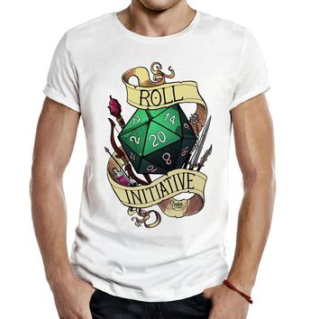 Roll Initiative video game Gaming T Shirts Dnd Dungeons And Dragons D20 D D Critical Role The Adventure Zone 20 Sided Die Gaming