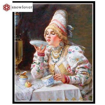 Snowlover,Needlework,Embroidery,DIY portrait Painting,embroidery kits Cross stitch,14ct smell home Cross-stitch,christmas gifts