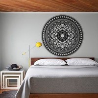 Modern Bedroom Headboard Wall Sticker Mandala Pattern Yoga Decals Vinyl Art Home Decor