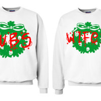 Wifey and the Hubs Newlywed uGLY Christmas Sweaters