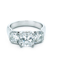 Tiffany & Co. | Engagement Rings | Lucida® Three Stone | United States