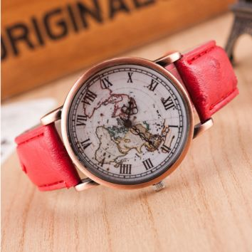 Sell like hot cakes type map of ms Roman numerals watches Red