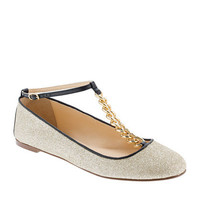 Glitter T-strap ballet flats - ballet flats - Women's shoes - J.Crew