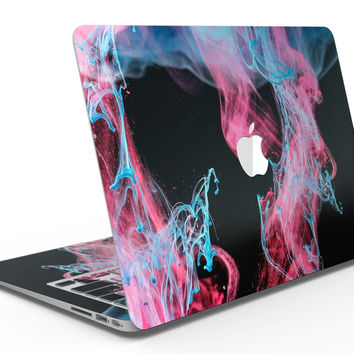Vivid Pink and Teal liquid Cloud - MacBook Air Skin Kit