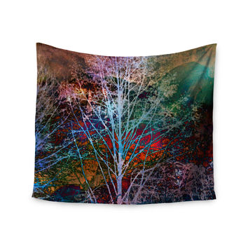 "Sylvia Cook ""Trees in the Night"" Wall Tapestry"