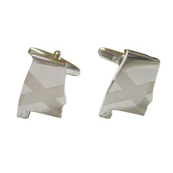 Alabama State Map Shape and Flag Design Cufflinks