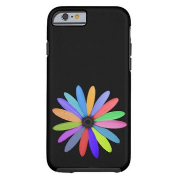 multicolor flower tough iPhone 6 case