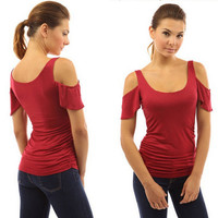 Womens Comfortable Strapless Tee Gift 37