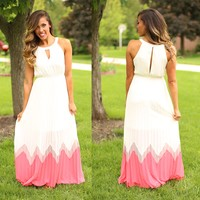 Walking On Air Maxi Dress in Cream