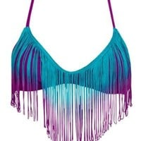 Bikini Lab Juniors Fringe Bralette Top
