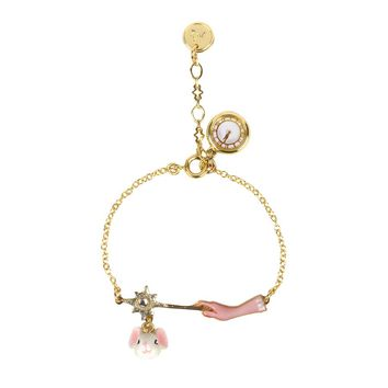 N2 by Les Néréides GLASS SLIPPER MOUSE AND MAGIC WAND BRACELET