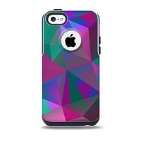 The Raised Colorful Geometric Pattern V6 Skin for the iPhone 5c OtterBox Commuter Case
