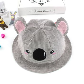 Summer Cotton Baby Bucket Hat Koala Pattern Kids Beach Sun Hats