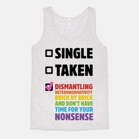 Single, Taken, Dismantling Heteronormativity
