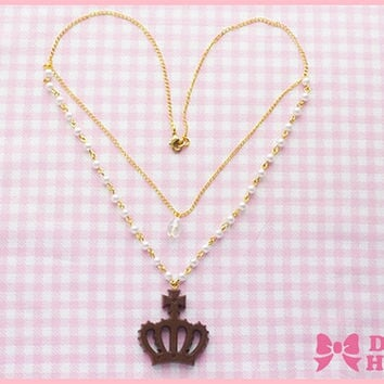 Royal Chocolate Necklace by Dolly House