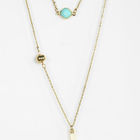 Urban Outfitters - Stone Cross Necklace - Set Of 2