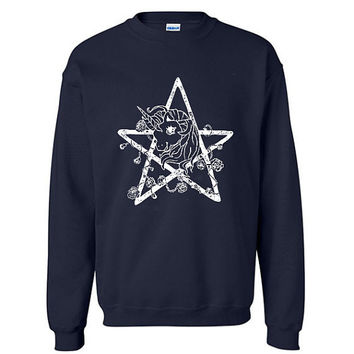 My Little Pony Sweatshirt  Pentacle Pullover by StandardExcessVtg