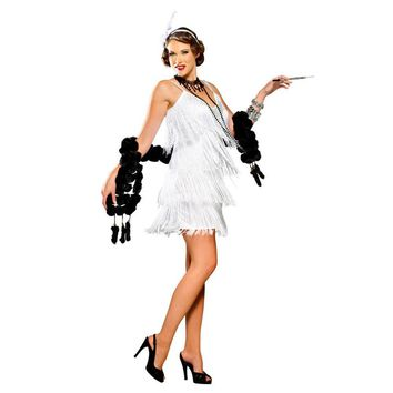Ladies 1920s Flapper Gangster Gatsby Fancy Dress Sequin Costume For Halloween Carnival Theme Party Dresses Cosplay