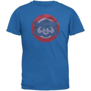 PEAPGQ9 Chicago Cubs - Circle Bear Logo Soft T-Shirt