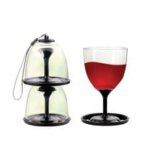 Kikkerland Travel Wine Glasses