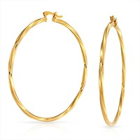 Bling Jewelry Twist Me Hoops