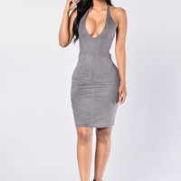 Atlantic City Dress - Grey
