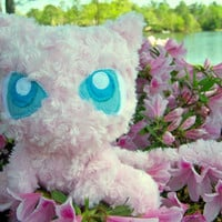 Pokemon Mew Plush Doll: Homemade, Unique, Minky Rose Faux-Fur