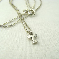 Monogram Silver Initial Necklace