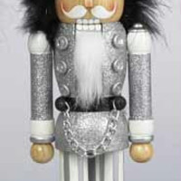 Soldier Wooden Nutcracker - Embellished From Head To Toe With Sparkling Glitter