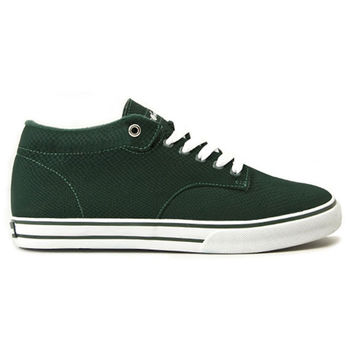 The Hundreds - Johnson Mid Top Hunter Green Sneakers