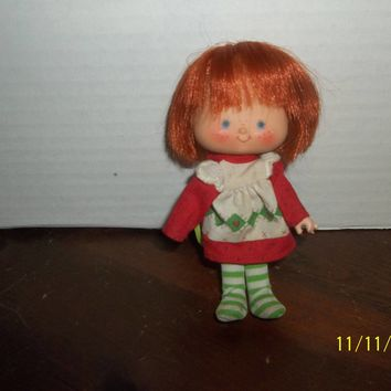 "vintage 1980's strawberry shortcake doll curved hands 5 1/4"" tall #4"