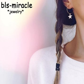 Bls-miracle 2018 Boho Geometric Earring for Women Earrings Fashion Pentagram pendant Style Party Gift Accessories Ethnic Jewelry