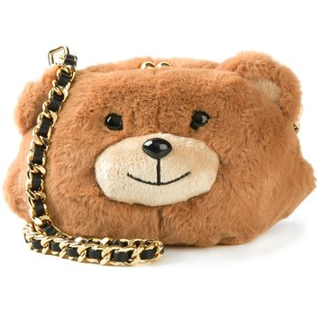 Moschino Plush Teddy Bear Crossbody Bag - Stefania Mode - Farfetch.com