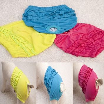 Beautiful Pet Dog Clothes Cotton Soft Warm Elastic Physiological Pants Shorts XS/S/M/L New = 1930335044