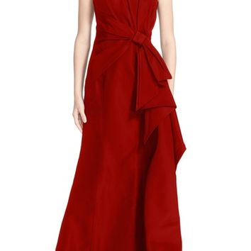 Carolina Herrera Bow Detail Strapless Silk Faille Gown (Nordstrom Exclusive) | Nordstrom