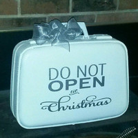 Vintage Christmas Suitcase/Don't open til christmas gift.