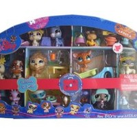 Littlest Pet Shop Exclusive 2009 Around the World Collector's Set of 12 Pets (Includes Walrus, Kangaroo, Beaver, Lion and More!)