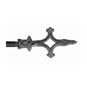 ONA Drapery 1/2 inch Wrought Iron Cathedral Finial